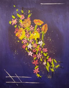 flowers are in the air, Tobias Gerber, February 2020 acrylic on canvas 40x50cm