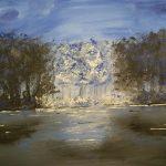 blauer Baum, Tobias Gerber, February 2020 acrylic on canvas 40x50cm