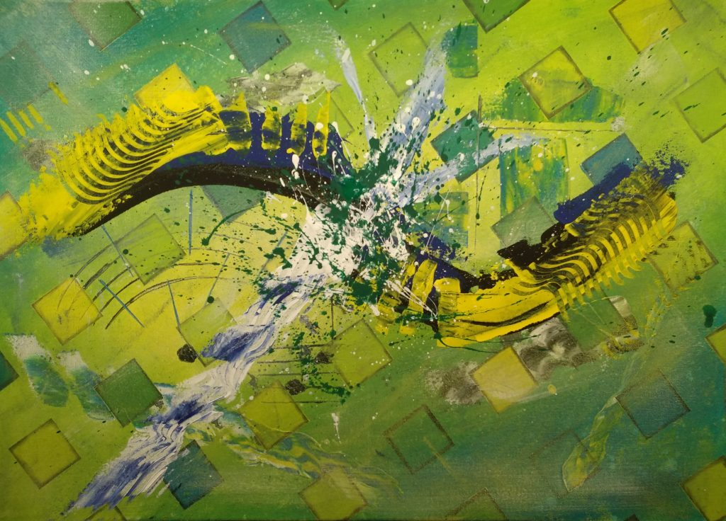 Change Tobias Gerber, December 2019 acrylic on canvas 70x50cm.